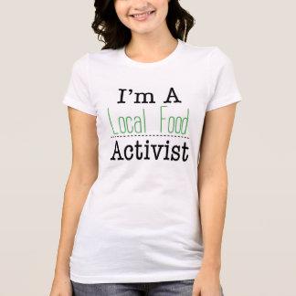 Camiseta T-shirt local do activista da comida
