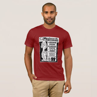 Camiseta T-shirt - loja dos dez centavos de Woolworth -