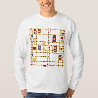 Camiseta T-shirt longo básico da luva dos homens