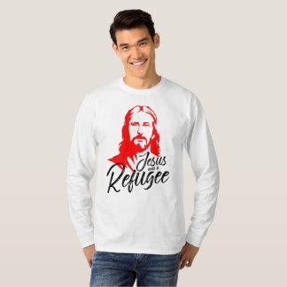 Camiseta T-shirt longo básico da luva dos homens de Jesus