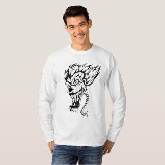 Camiseta T-shirt longo básico da luva dos homens maus do
