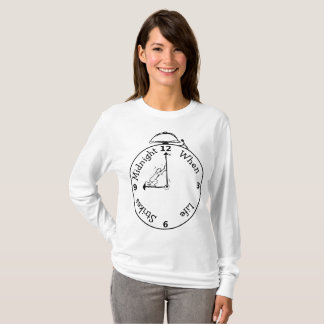 "Camiseta T-shirt longo básico ""pulso de disparo da"