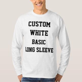 Camiseta T-SHIRT LONGO BRANCO personalizado costume da LUVA