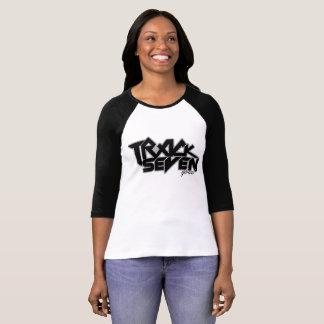Camiseta T-shirt longo da banda da trilha sete da luva