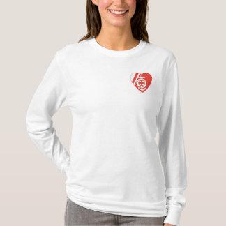Camiseta T-shirt longo da luva da divisão das mães de USCG