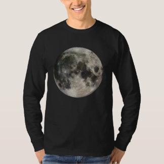 Camiseta T-shirt longo da luva da Lua cheia