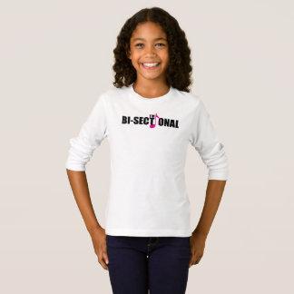 Camiseta T-shirt longo da luva da menina Bisectional