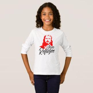 Camiseta T-shirt longo da luva da menina de Jesus