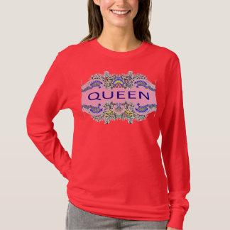 Camiseta T-shirt longo da luva da RAINHA