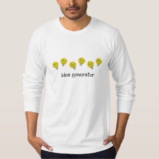 Camiseta T-shirt longo da luva das ampolas do gerador da
