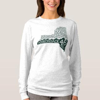 Camiseta T-shirt longo da luva das mulheres dos picos altos