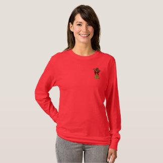 Camiseta T-shirt longo da luva das mulheres extraordinárias
