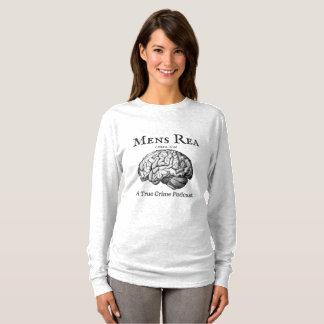 Camiseta T-shirt longo da luva das senhoras