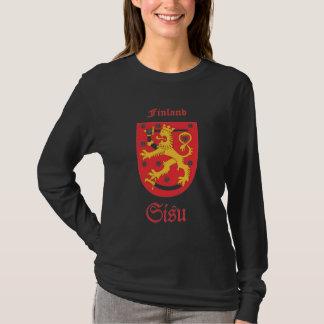 Camiseta T-shirt longo da luva de Sisu Suomi