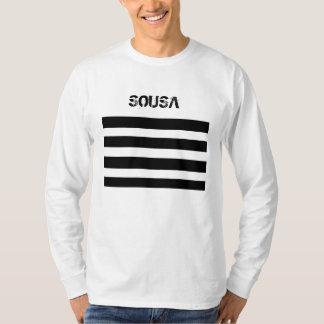 Camiseta T-shirt longo da luva de SOUSA dos homens