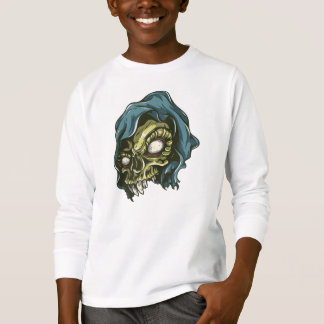 Camiseta T-shirt longo da luva de Tagless ComfortSoft® do