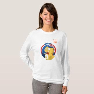 Camiseta T-shirt longo da luva de VIPKID para o professor