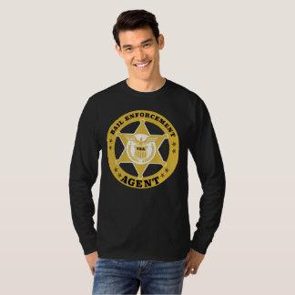 Camiseta T-shirt longo da luva do AGENTE de APLICAÇÃO da
