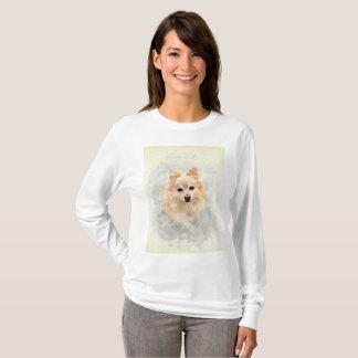 Camiseta T-shirt longo da luva do amante do cão! Cão de