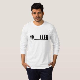 Camiseta T-shirt longo da luva do assassino simples do
