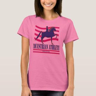 Camiseta T-shirt longo da luva do atleta equestre de