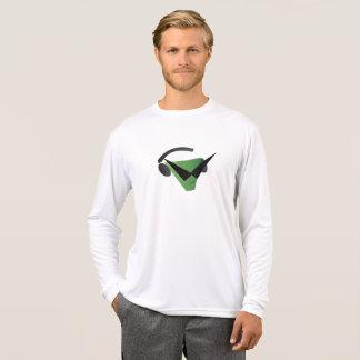 Camiseta T-shirt longo da luva do concorrente do