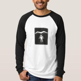 Camiseta T-shirt longo da luva do deslizamento de cair