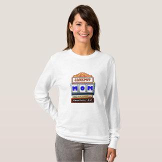 Camiseta T-shirt longo da luva do dia das mães da MAMÃ do