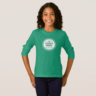 Camiseta T-shirt longo da luva do dia de St Patrick