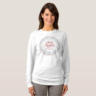 Camiseta T-shirt longo da luva do drama de período de Jane