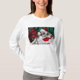 Camiseta T-shirt longo da luva do Feliz Natal de YumYum