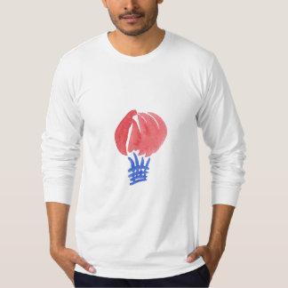 Camiseta T-shirt longo da luva do jérsei dos homens do