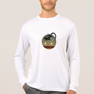 Camiseta T-shirt longo da luva do lagarto australiano