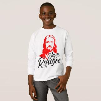 Camiseta T-shirt longo da luva do menino de Jesus