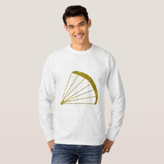 Camiseta T-shirt longo da luva do Paraglider dourado