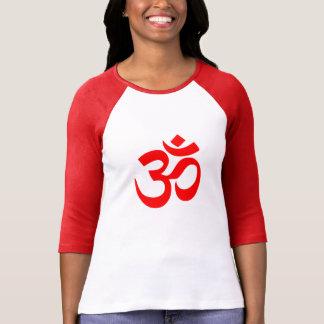 Camiseta T-shirt longo da luva do símbolo da ioga do OM