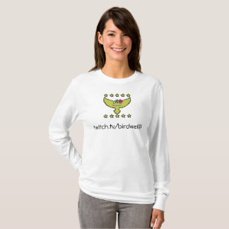 Camiseta T-shirt longo da luva do subscritor da contração