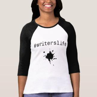 Camiseta t-shirt longo da luva do #writerslife