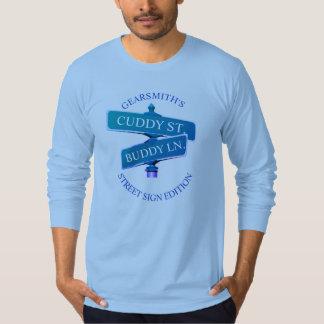Camiseta T-shirt longo da luva dos azuis bebés do amigo do