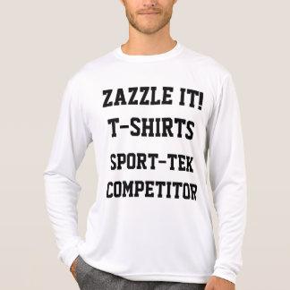 Camiseta T-SHIRT LONGO da LUVA dos homens personalizados