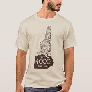Camiseta T-shirt longo da luva dos pés de página do NH 4000