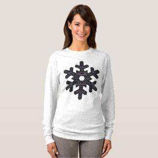 Camiseta T-shirt longo de inspiração da luva da forma do
