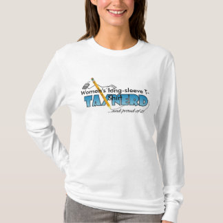 Camiseta T-shirt longo do nerd do imposto da luva das