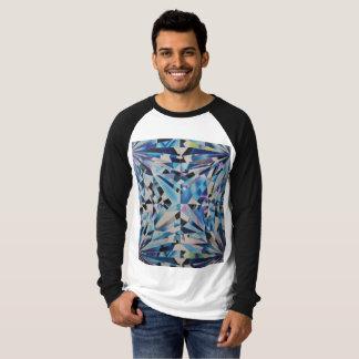 Camiseta T-shirt longo do Raglan da luva das canvas do