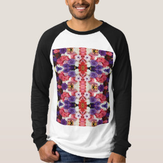 Camiseta T-shirt longo do Raglan da luva das canvas dos