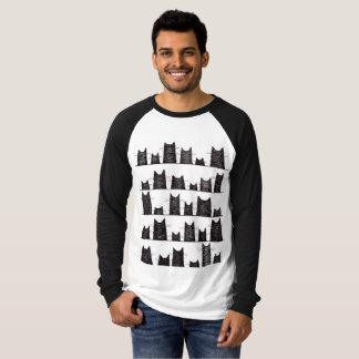 Camiseta T-shirt longo do Raglan da luva dos encantos de