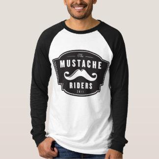 Camiseta T-shirt longo do raglan da luva dos homens