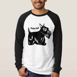 Camiseta T-shirt longo do Raglan da luva dos homens do pai