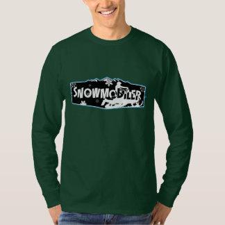 Camiseta T-shirt longo Nano da luva de Snowmobiler Hanes