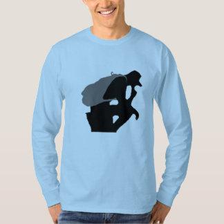 Camiseta T-shirt longo oficial da luva do roupa urbano do